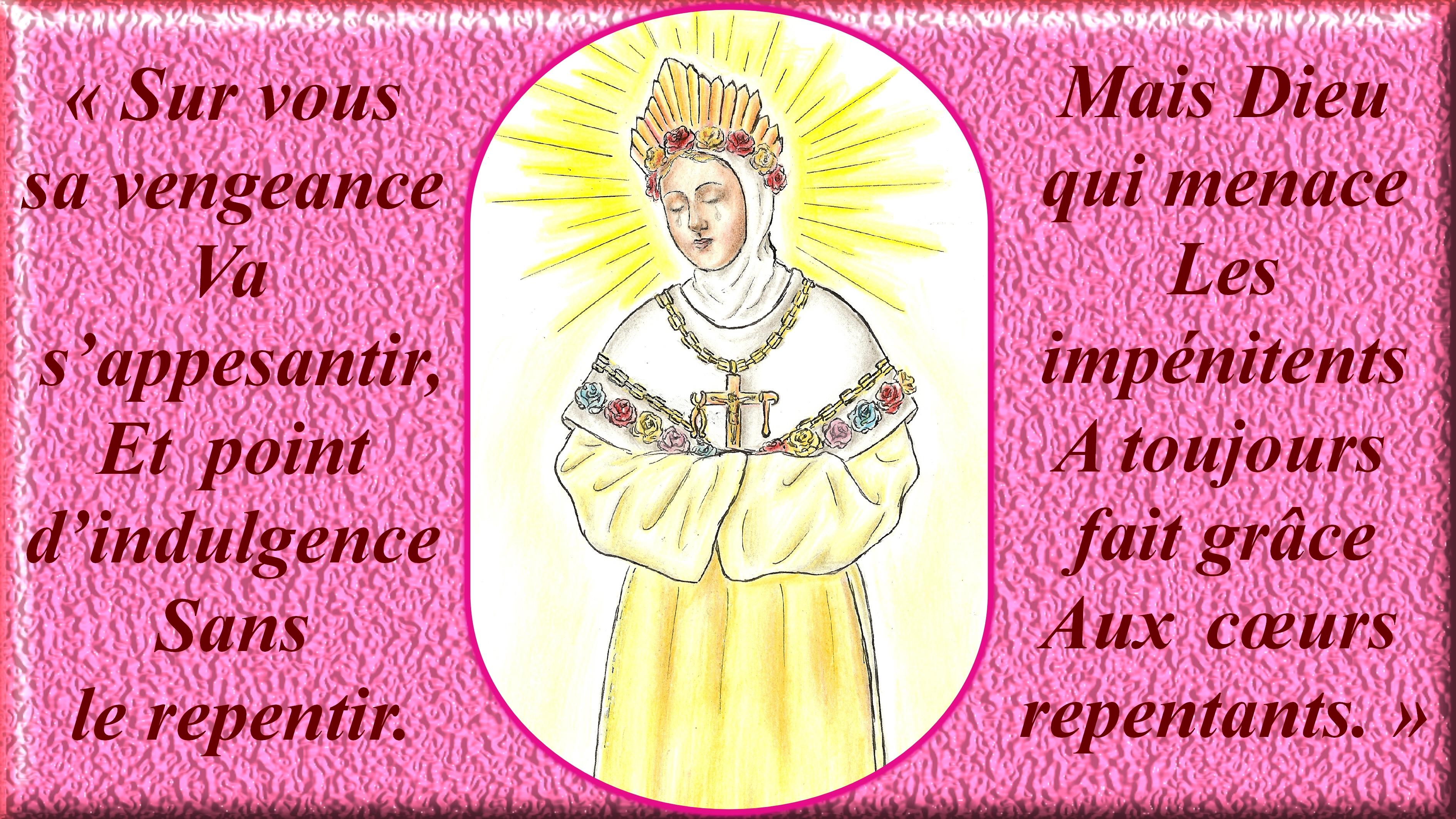 CALENDRIER CATHOLIQUE 2019 (Cantiques, Prières & Images) - Page 9 Notre-dame-de-la-...-d-tail--5693aae