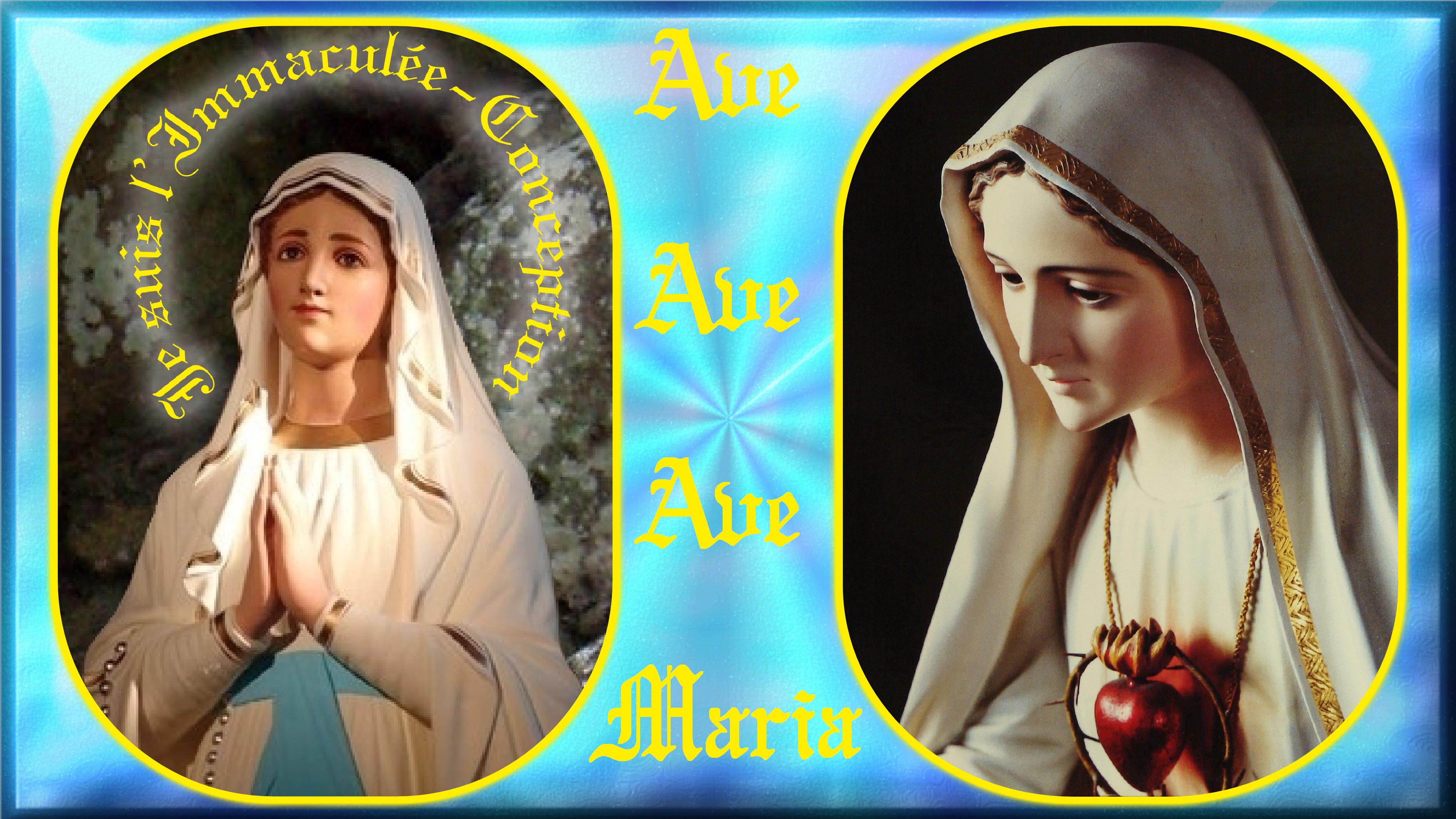 CALENDRIER CATHOLIQUE 2019 (Cantiques, Prières & Images) - Page 18 Ave-maria-_-notre...e-fatima-56dc002