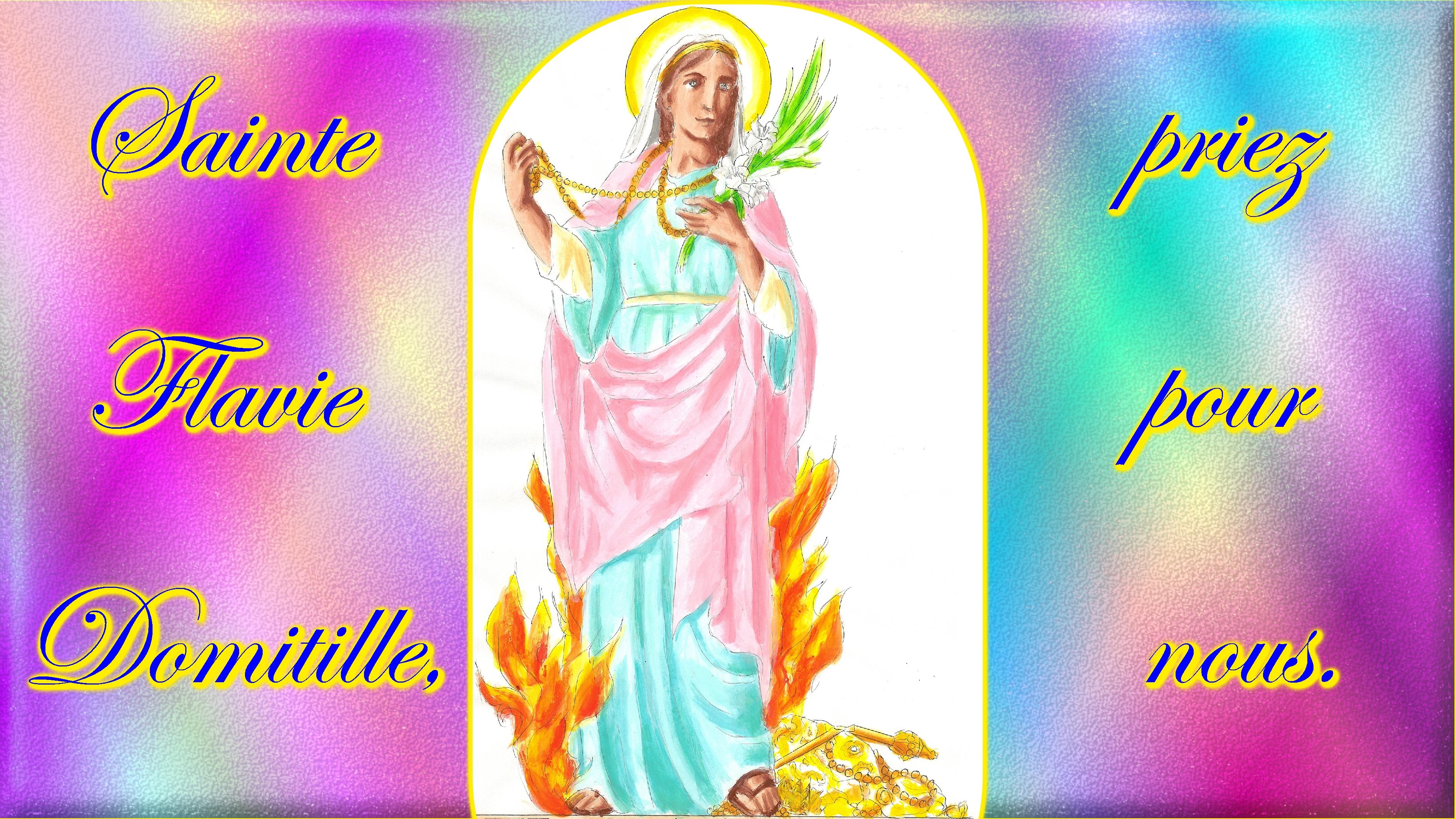 CALENDRIER CATHOLIQUE 2020 (Cantiques, Prières & Images) - Page 14 Ste-flavie-domitille-575e030