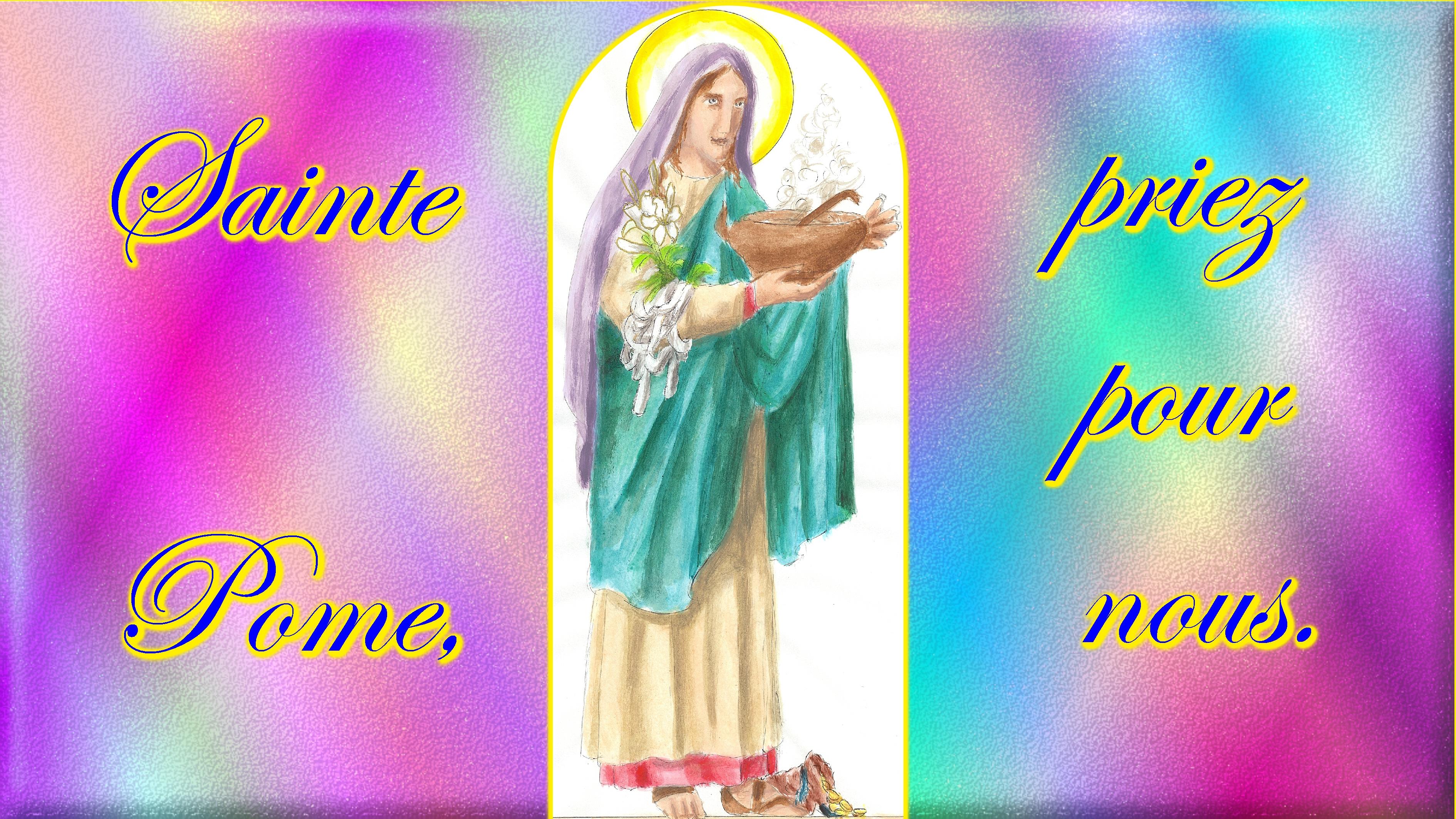 CALENDRIER CATHOLIQUE 2020 (Cantiques, Prières & Images) - Page 23 Ste-pome-579d500